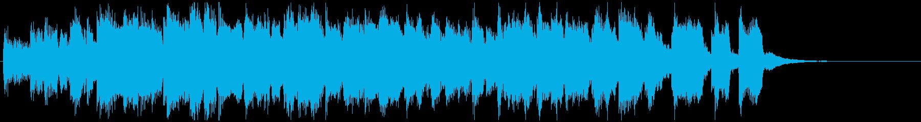 ひょうきんなサックスとエレピのジングルの再生済みの波形