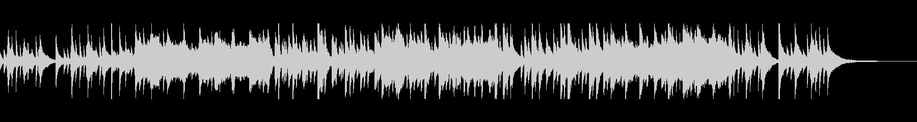 夜のラジオ番組のなどにぴったりな静かな曲の未再生の波形
