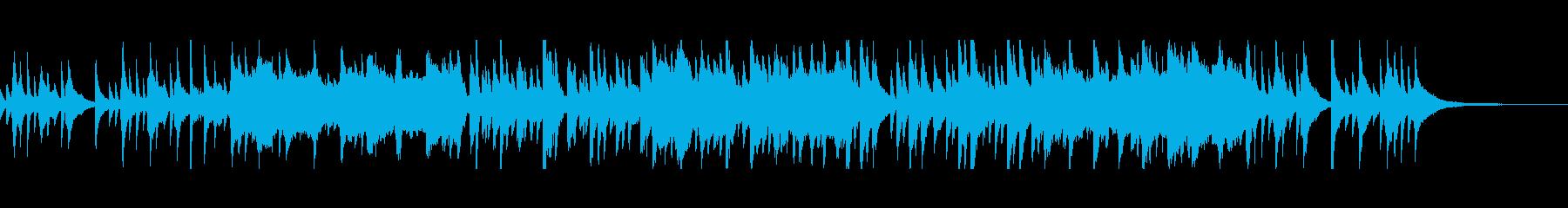 夜のラジオ番組のなどにぴったりな静かな曲の再生済みの波形