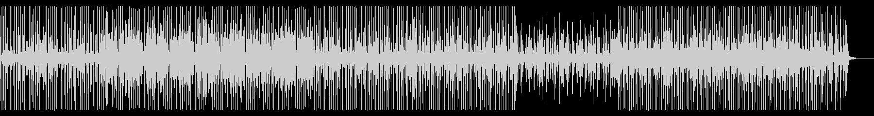 淡々としたエレクトロニックな曲の未再生の波形