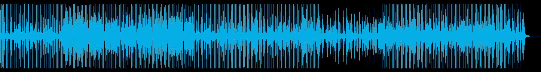 淡々としたエレクトロニックな曲の再生済みの波形
