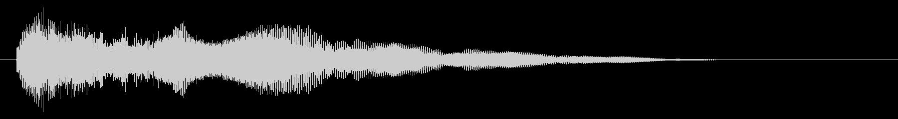 ロングテールのメタリックインパクトトーンの未再生の波形