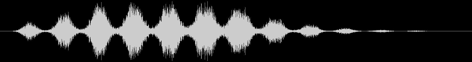 ワープ(シュワシュワ…+サーッ)の未再生の波形