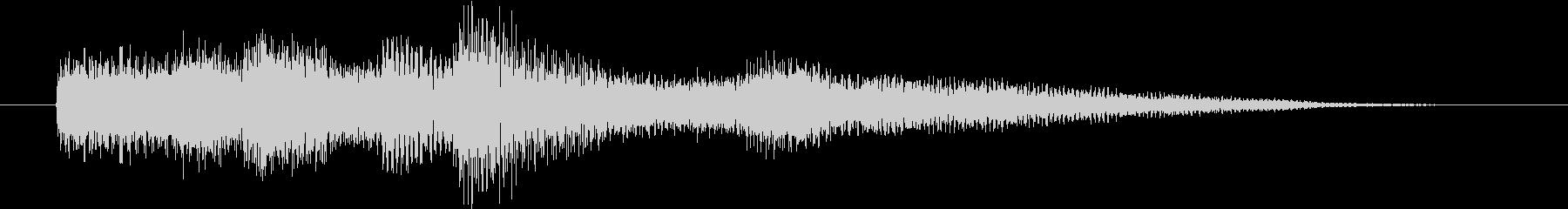 ピアノ演奏/CM前、キラキラしたジングルの未再生の波形
