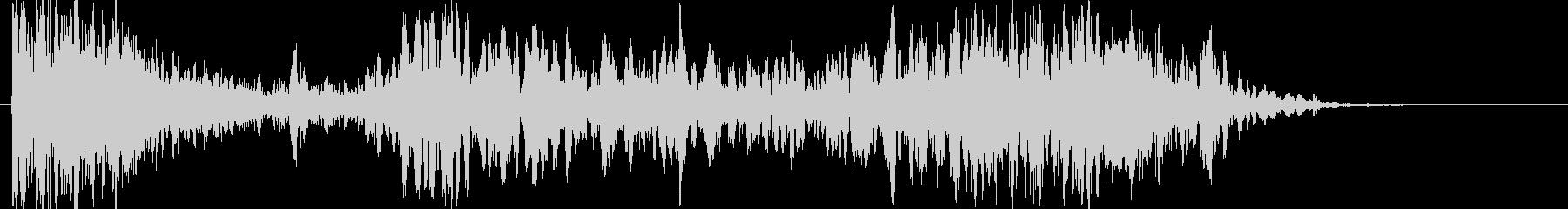 衝撃 噴火13の未再生の波形
