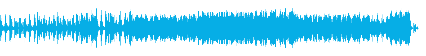 ピアノの旋律が印象的なピアノソロの再生済みの波形