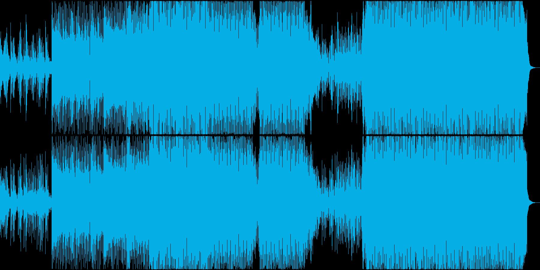 EDM リアル 明るい ピアノ 始まりの再生済みの波形
