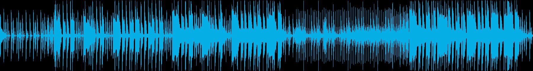 メニュー選択画面のBGM(ループ仕様)の再生済みの波形