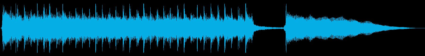 ロックバンドでオチや失敗時に合うジングルの再生済みの波形