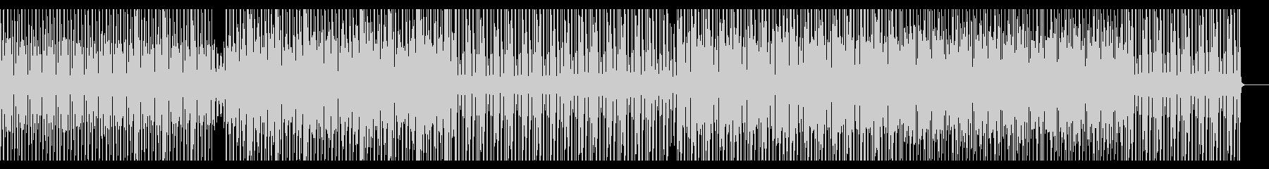 徐々に盛り上がっていくテクノBGMの未再生の波形