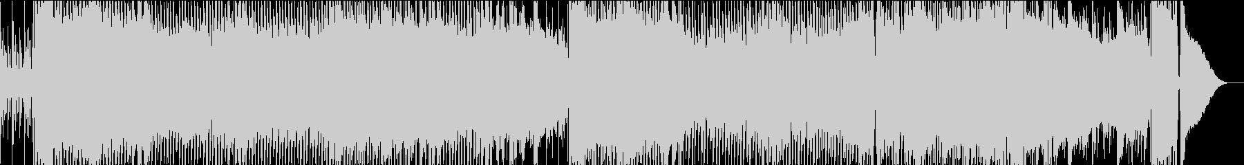 前向きなイメージのポップなロックの未再生の波形