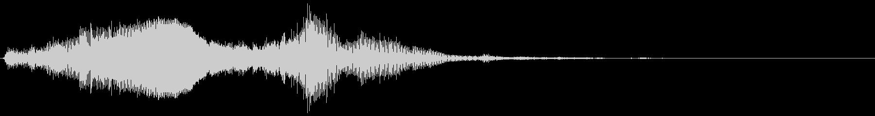 複数のエイリアンの声;奇妙な低コン...の未再生の波形