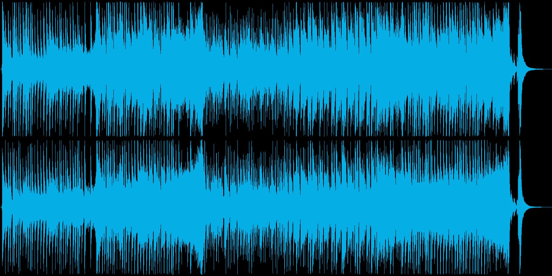 明るくハッピーなメロディーの再生済みの波形