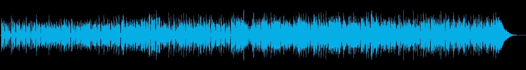 のんびりアコースティックカントリーBGMの再生済みの波形