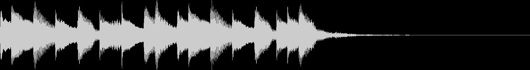 ミステリーなオープニングロゴの未再生の波形