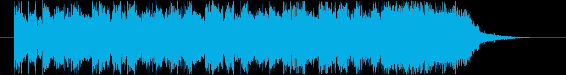 ギターとオルガンのインパクトのあるロックの再生済みの波形