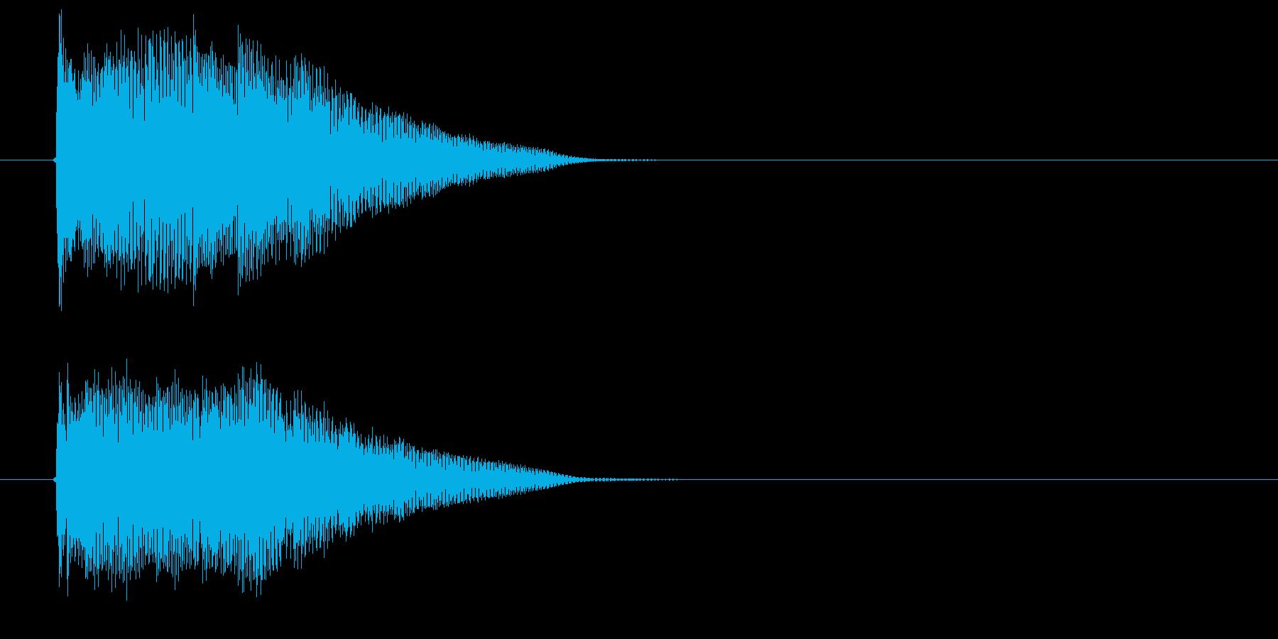 煌びやかで可憐な鐘風ジングルの再生済みの波形