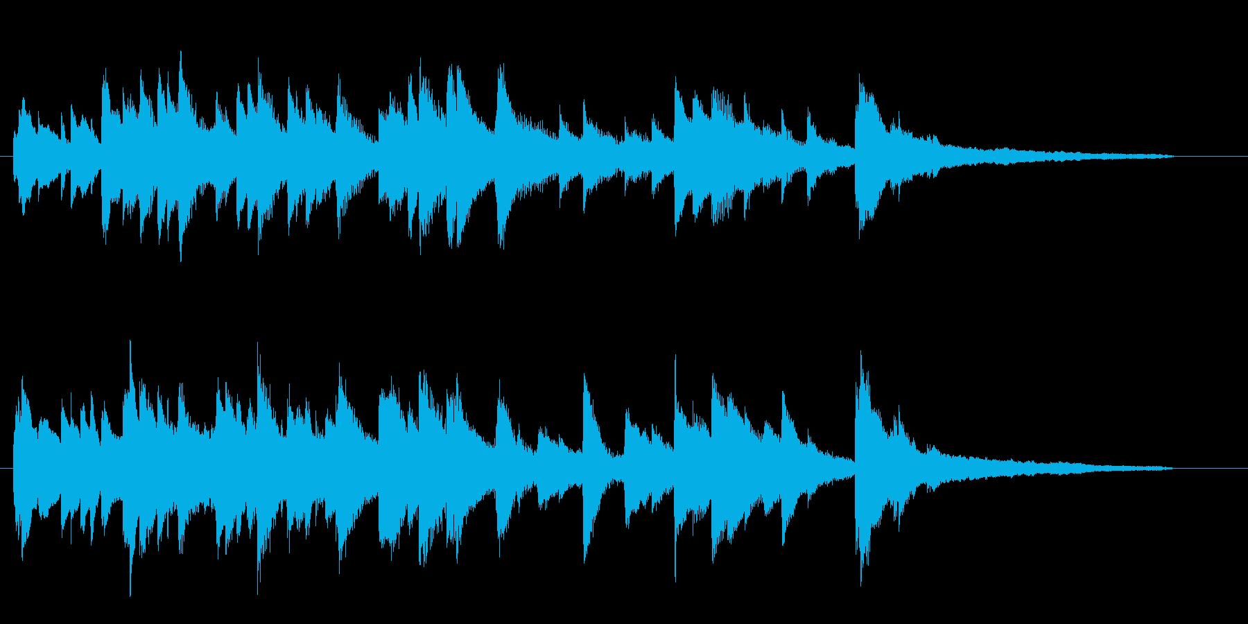 ピアノソロの30秒ジングルです。の再生済みの波形