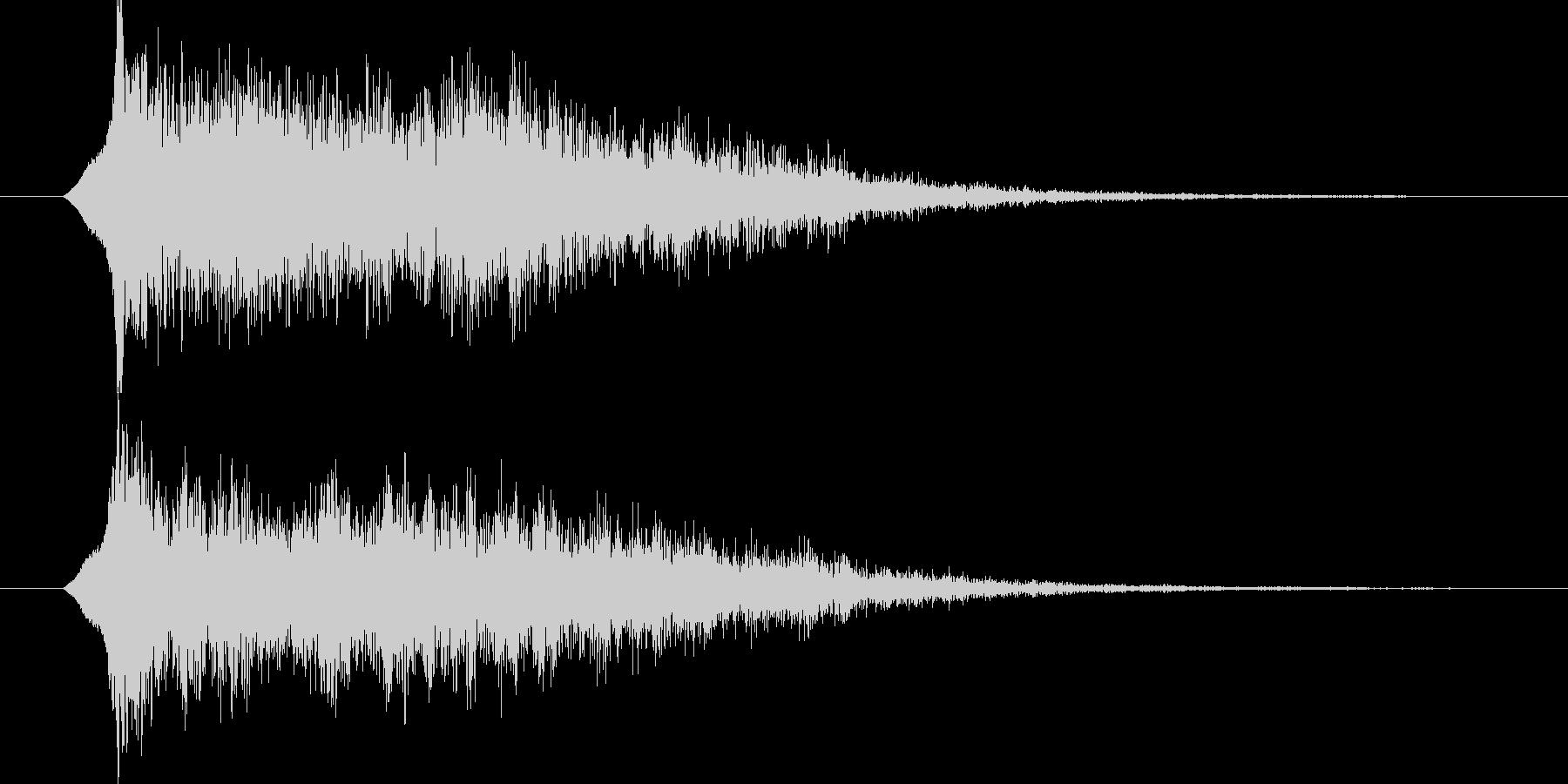 ジングル サウンドロゴ 13秒 近未来的の未再生の波形