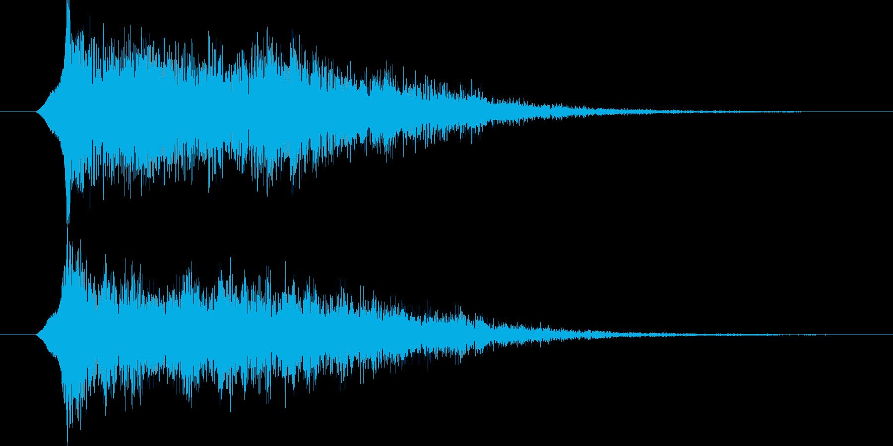 ジングル サウンドロゴ 13秒 近未来的の再生済みの波形