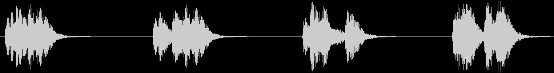 マンホール音セット(ガランガラン)の未再生の波形
