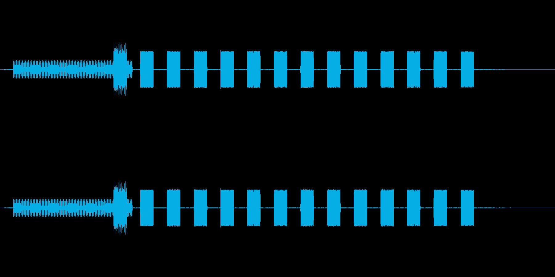 56kダイヤルアップモデムダイヤルの再生済みの波形