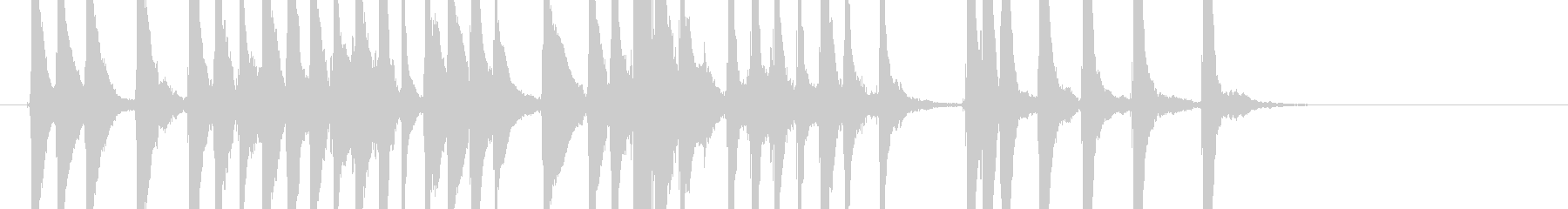 三味線117連獅子10乱序前歌舞伎生音和の未再生の波形