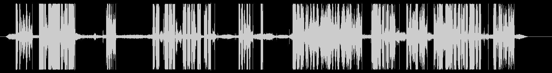機内交換;室内静かなエンジンの音、...の未再生の波形