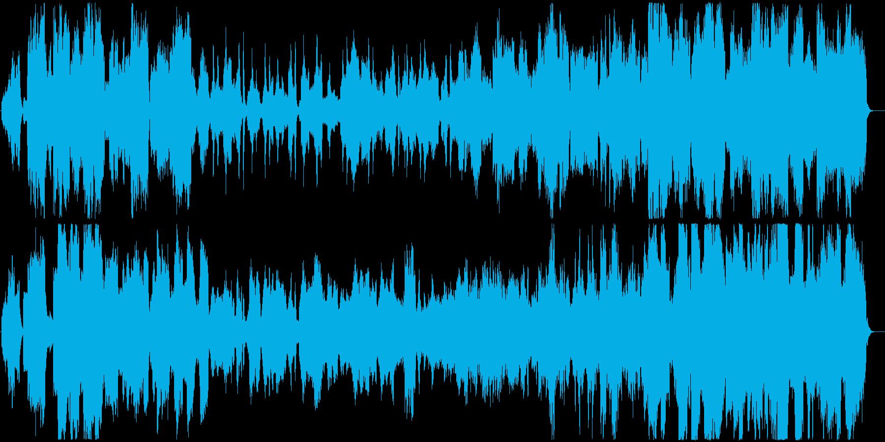 穏やかな雰囲気のオーケストラバラードの再生済みの波形