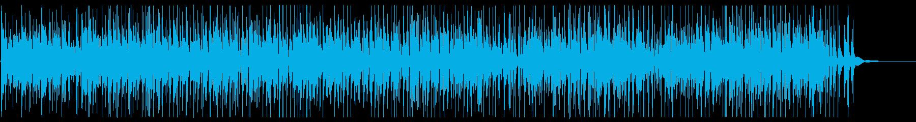 ナイロンギターの優しいカフェミュージックの再生済みの波形