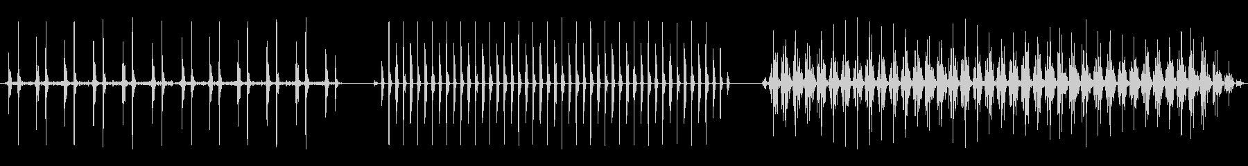 ハートビート、ハートビート、3バー...の未再生の波形