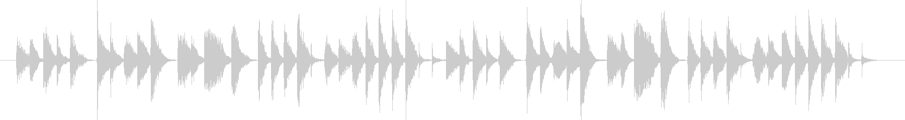 軽快する音楽BGMの未再生の波形