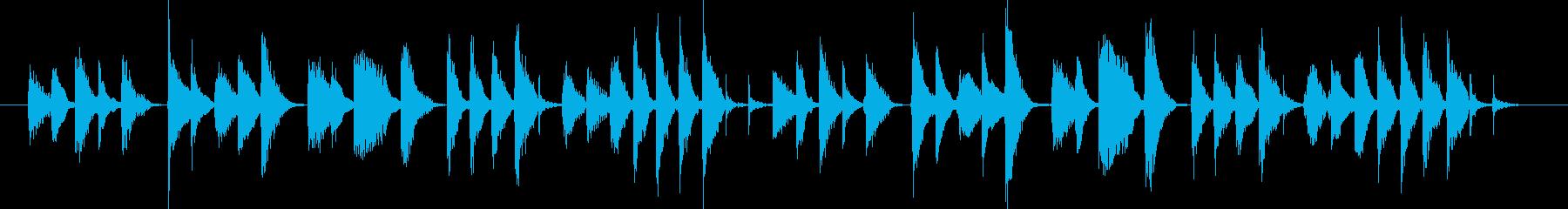 軽快する音楽BGMの再生済みの波形