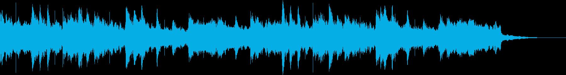 ほのぼの・癒し・可愛いマリンバのジングルの再生済みの波形