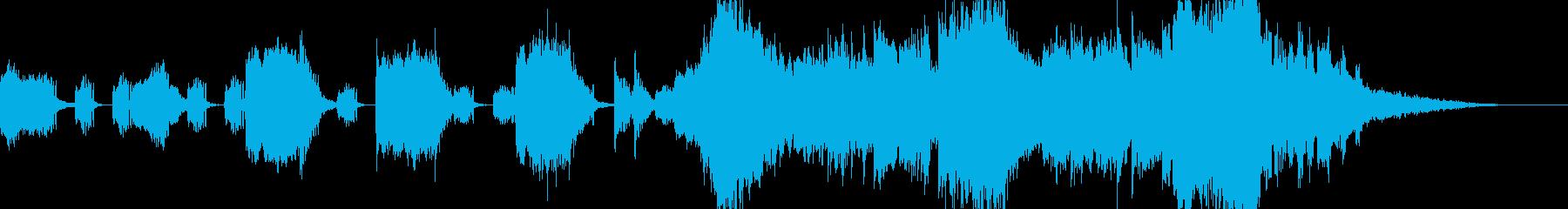 オーケストラ 警告音 危機感 予告動画の再生済みの波形