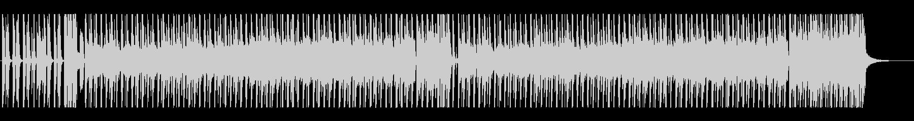 三線の音色がメロディー、ドラム、ベースの未再生の波形