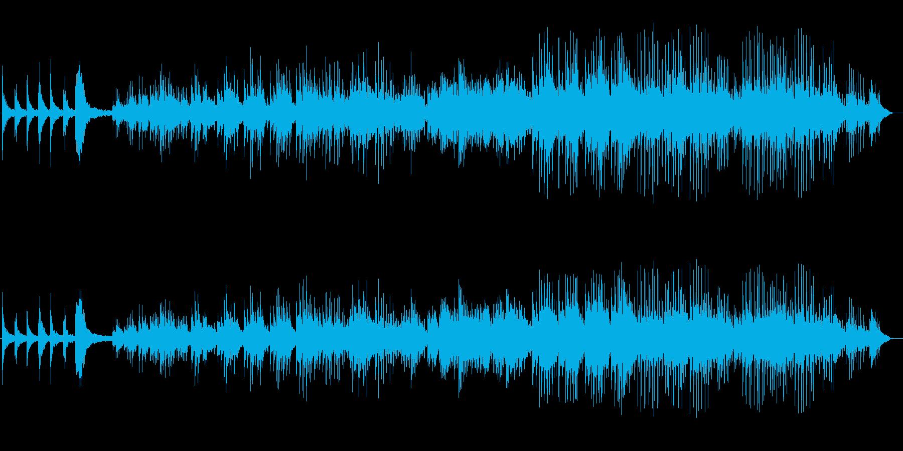 ピアノのメロディが懐かしい気分のバラードの再生済みの波形