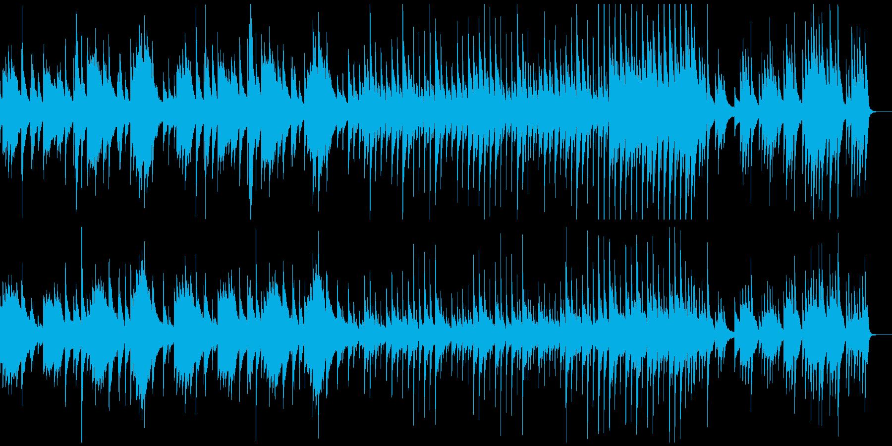 暗く悲しい雰囲気のピアノソロ曲の再生済みの波形