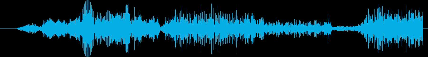 モンスター グリッチトーク05の再生済みの波形