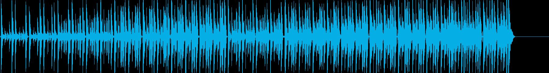 ノリのいいファンキーなギターの曲の再生済みの波形