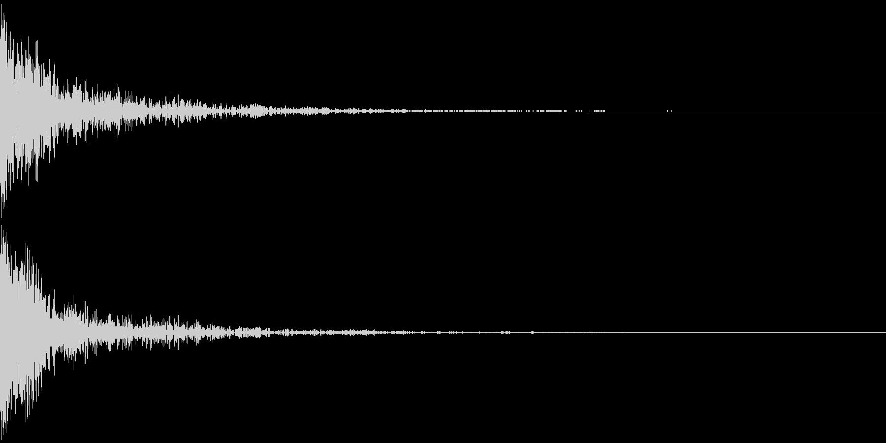 ドバーン!(インパクト)の未再生の波形