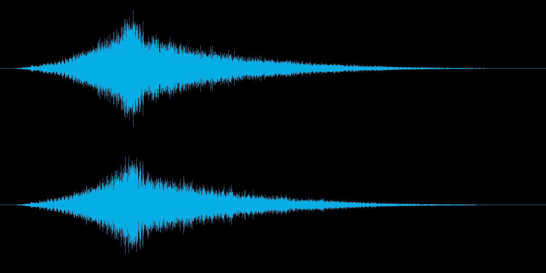 ホラー・スウィッシュ、ロング、エコーの再生済みの波形