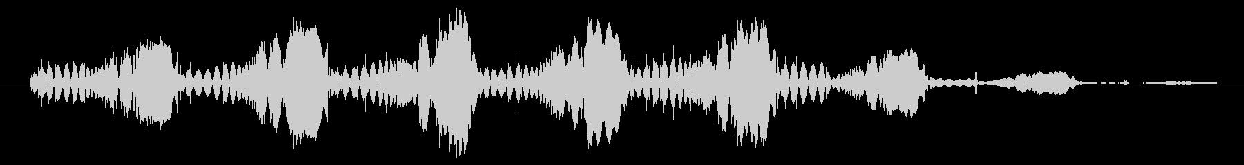 シンセ ショットテクノウォブルロー01の未再生の波形