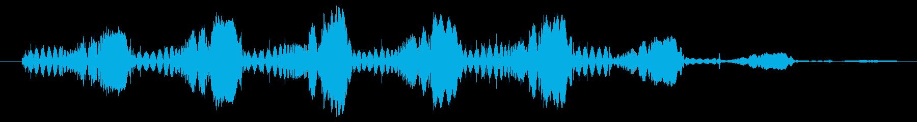 シンセ ショットテクノウォブルロー01の再生済みの波形