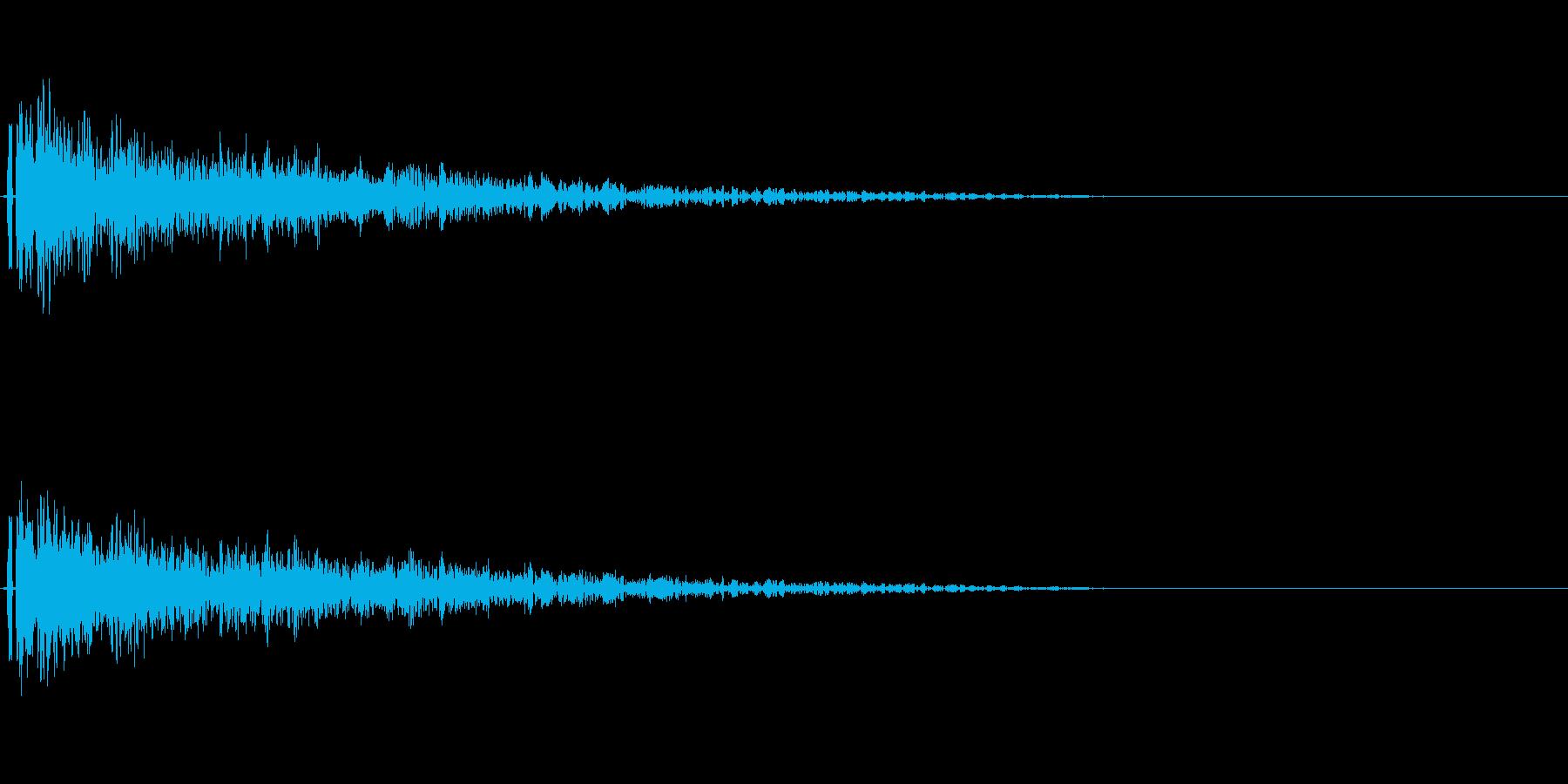 金属的な決定音。「ガーン」「ドーン」の再生済みの波形