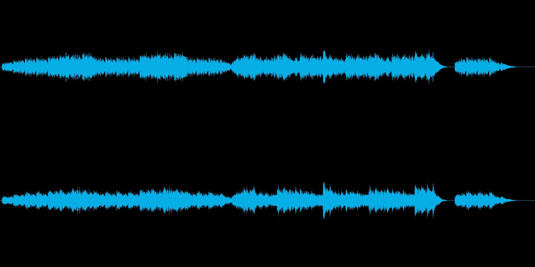 寂しく吹く秋風(非ループ版)の再生済みの波形