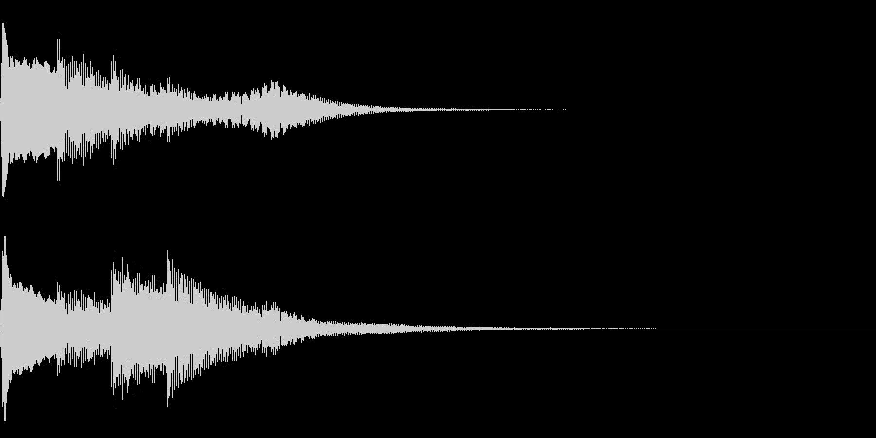 ピンポンピンポン(正解音)01の未再生の波形