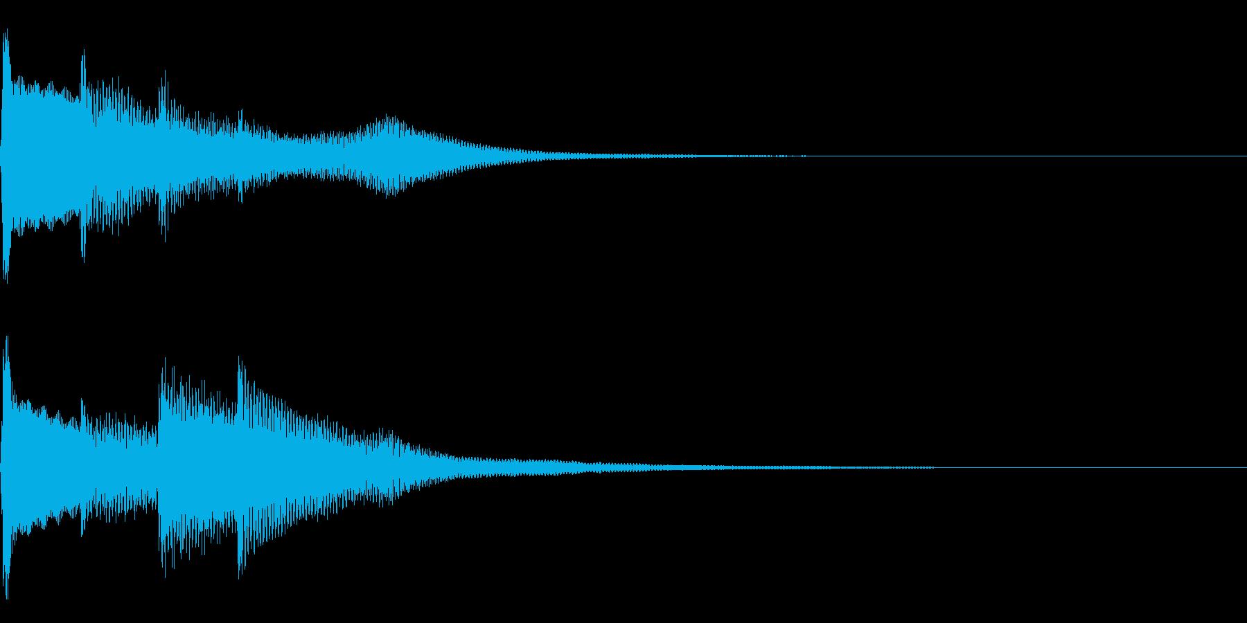 ピンポンピンポン(正解音)01の再生済みの波形