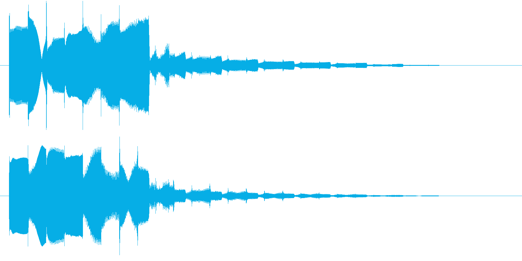 サウンドロゴ1の再生済みの波形
