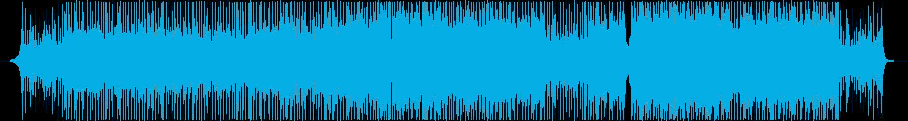 希望・明るい・リズミカル_テンポのいい曲の再生済みの波形